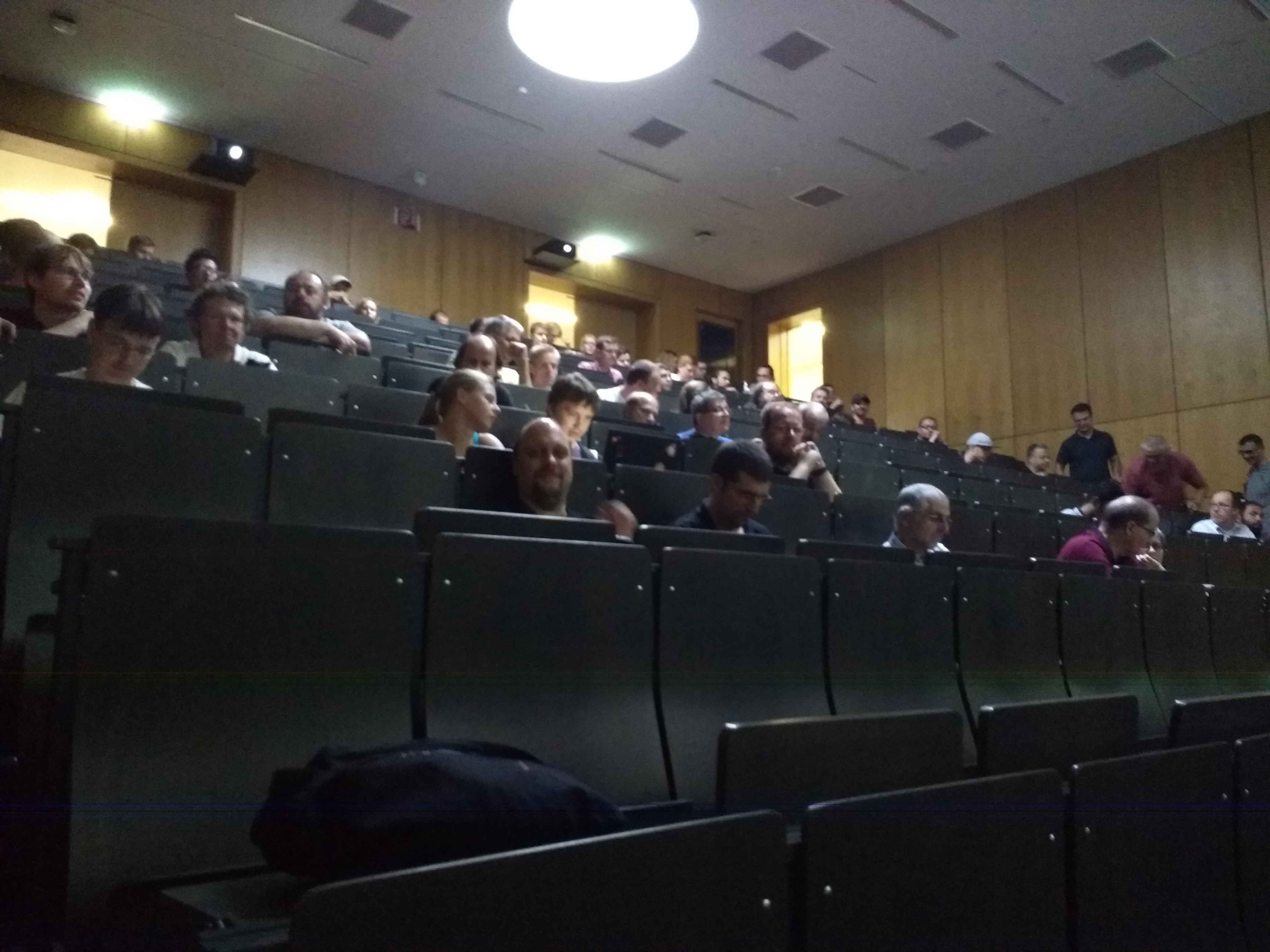 Audience, 10 minutes before the talk